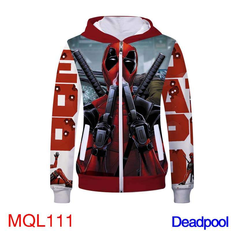 Movie Sweatshirt - Deadpool Unisex Zip Up Hoodie