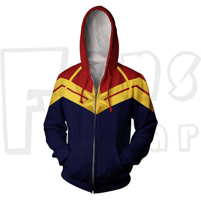 Endgame Battle Suit Sweatshirt - Captain M Zip Up Hoodies
