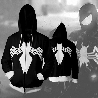 Spiderman Hoodies - Symbiote Spider Man Zip Up Hoodie