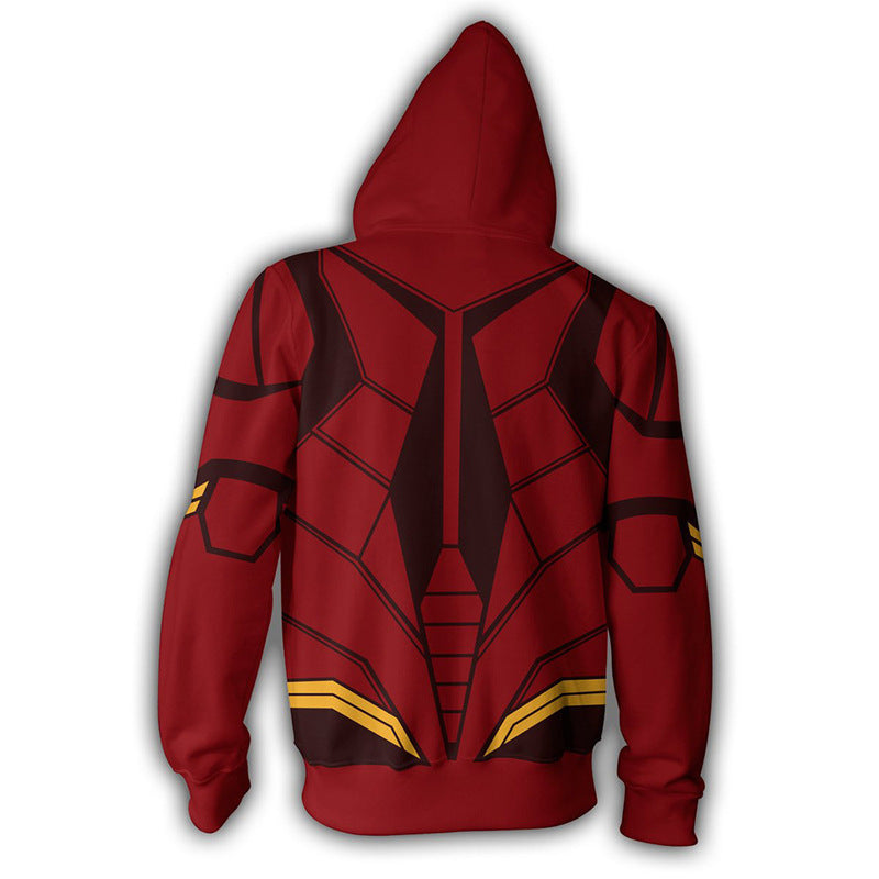 Justice League The Flash Zip Up Cosplay Sweatshirt
