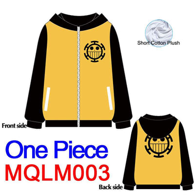Anime Sweatshirt - One piece Unisex Zip Up Hoodie