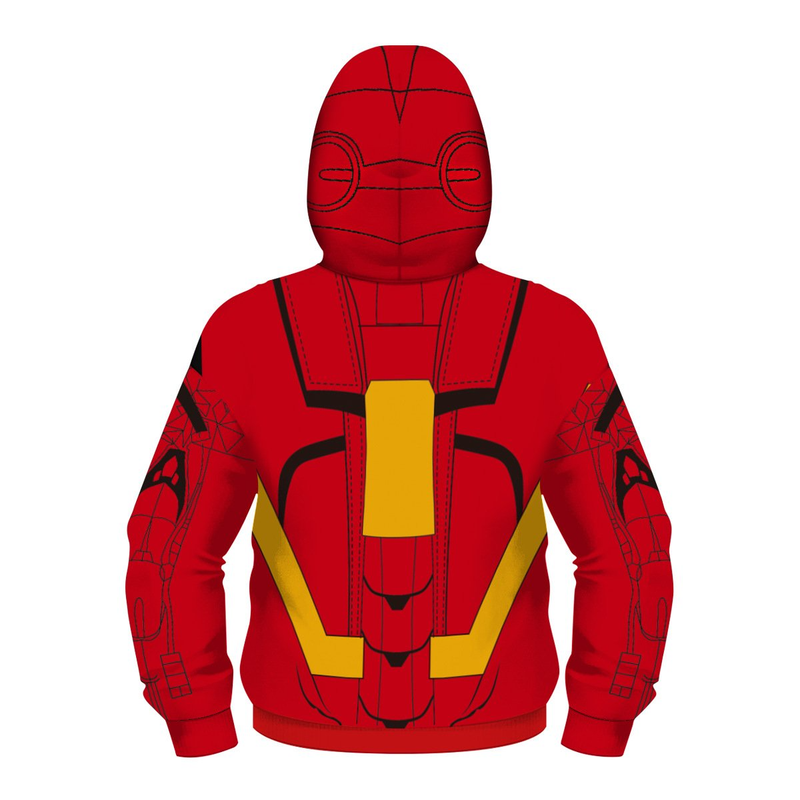 Iron-man Hoodies - Children  Zip Up Hoodie