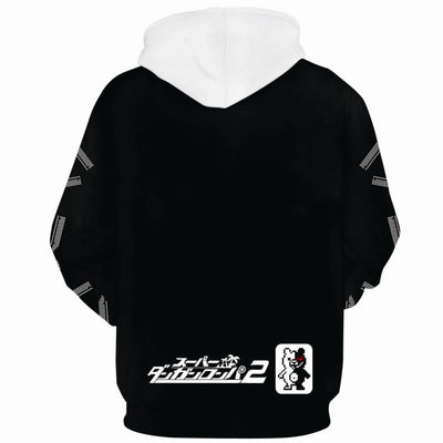 DANGANRONPA  Black and White Bear Cosplay 3d Printed Casual Hoodie