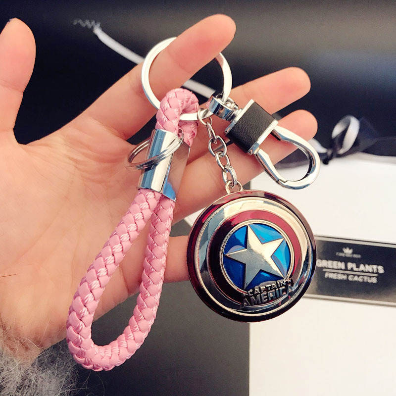Superhero Fans Accessories Captain A Ring Keychain