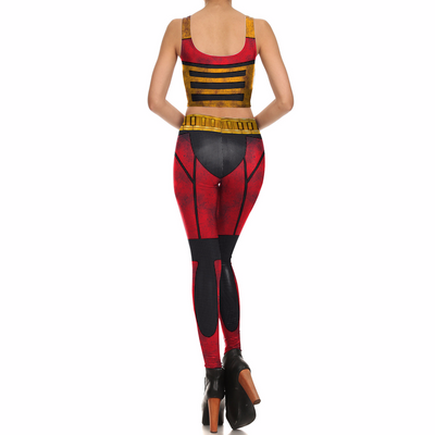 Women Cosplay Party 3d Printed Tights Vest Leggings Set