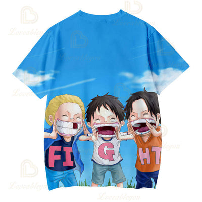 Luffy Zoro Unisex Cosplay T Shirt