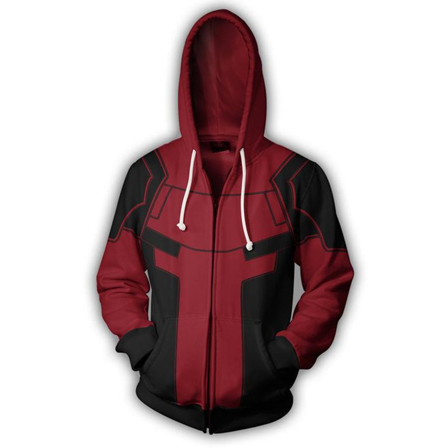 Deadpool Hoodies - Deadpool Was Here Zip Up Sweatshirt