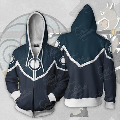 Legend of Korra Cosplay Costume Men's Fashion Long Sleeve Print Zip Hoodie Sweatshirt