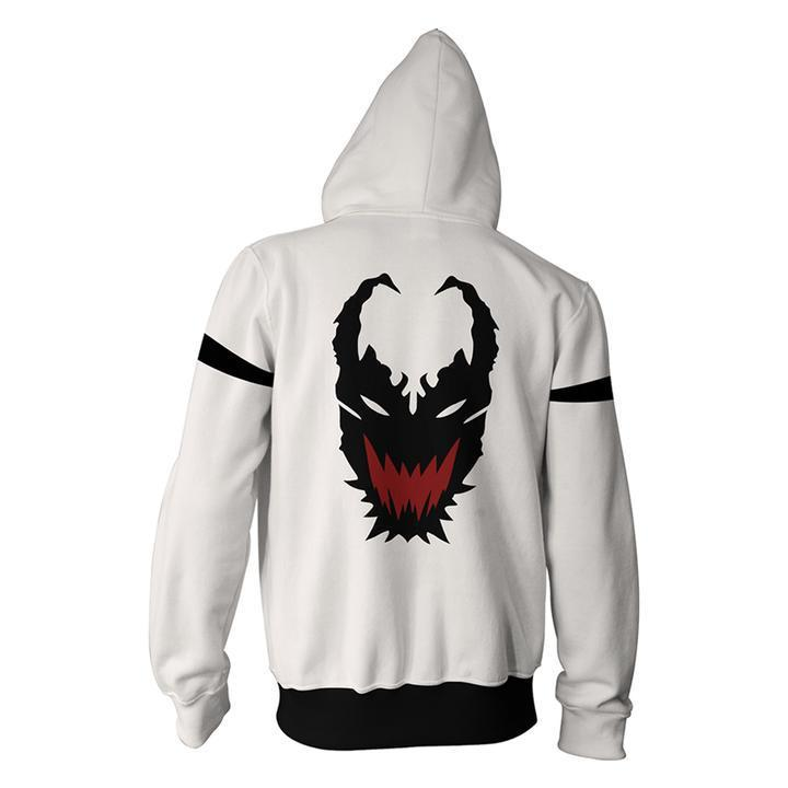 Anti-hero Sweatshirt - Venom Unisex Pullover  Zip Up Hoodie