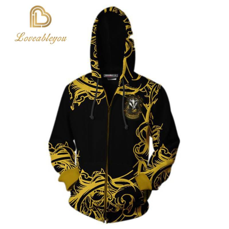 The Wizardry - HUFFLEPUFF Unisex Zip Up Hoodie