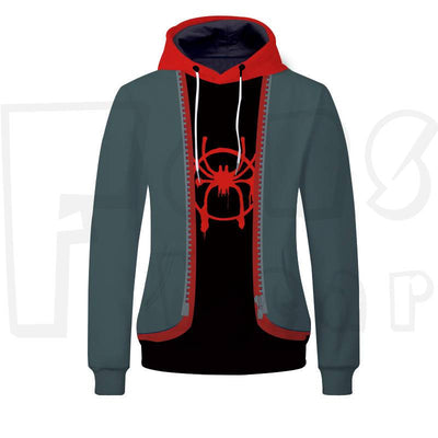 Spider-man Into the Spider Verse Unisex Pullover Hoodie