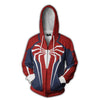 Spiderman Hoodies - Spider Man PS4 Zip Up Hoodie