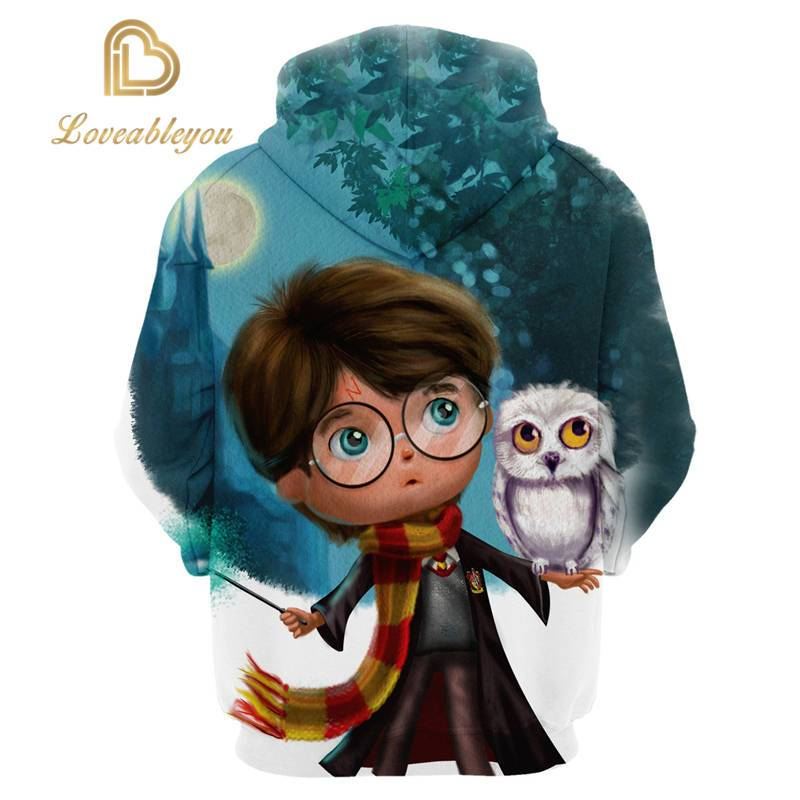 The Wizardry - Cartoon Magic Boy Unisex Pullover Hoodie