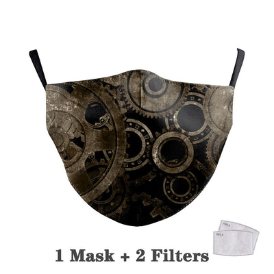 Fashion Steampunk print Face Masks Washable Fabric Mask for Mouth