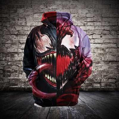 Marvel Venom Cosplay - Mens 3D Printed Hoodies