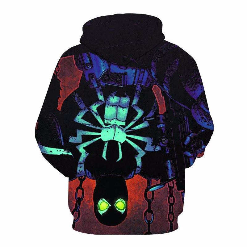 Venom Men Hoodie Sweatshirt Costume for Marvel Movie Fans