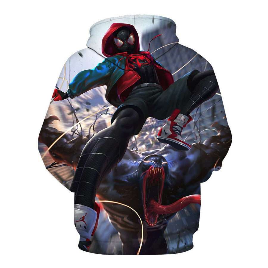 Marvel Movie Fans Venom Cosplay Hoodies for Men Long Sleeve Sweatshirt