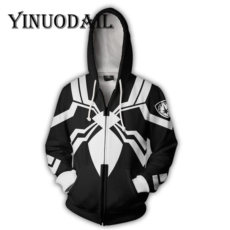 Black Marvel Venom 3D Hoodies for Women & Men Sweatshirt
