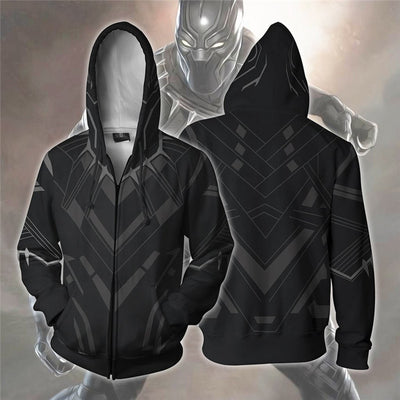 Black Panther - Superhero Black Panther 3D Prined Hooded Sweatshirts