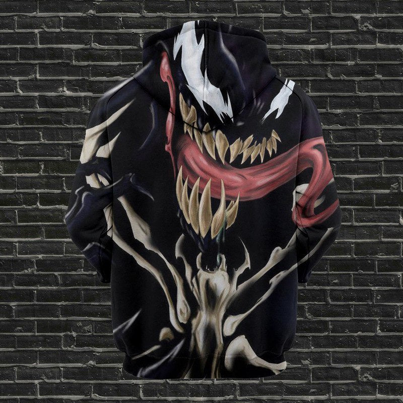 Venom Hoodie Long Sleeve Sweatshirt Costume for Fans