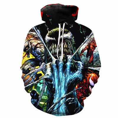 Venom Mens Long Sleeve 3D Printed Hoodies