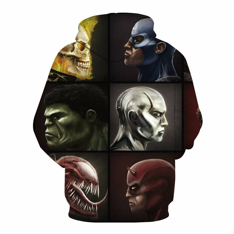 Marvel Venom Mens Long Sleeve 3D Printed Hoodies