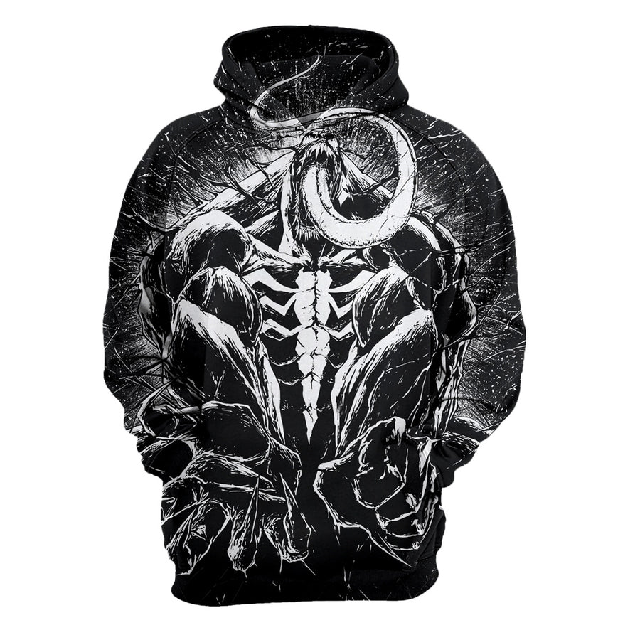 Venom Long Sleeve 3D Printed Hoodies for Movie Fans