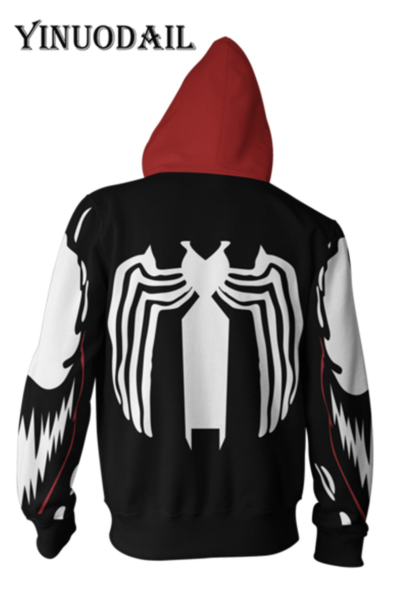 Marvel Venom 3D Hoodies for Women & Men Spiderman Cosplay Sweatshirt