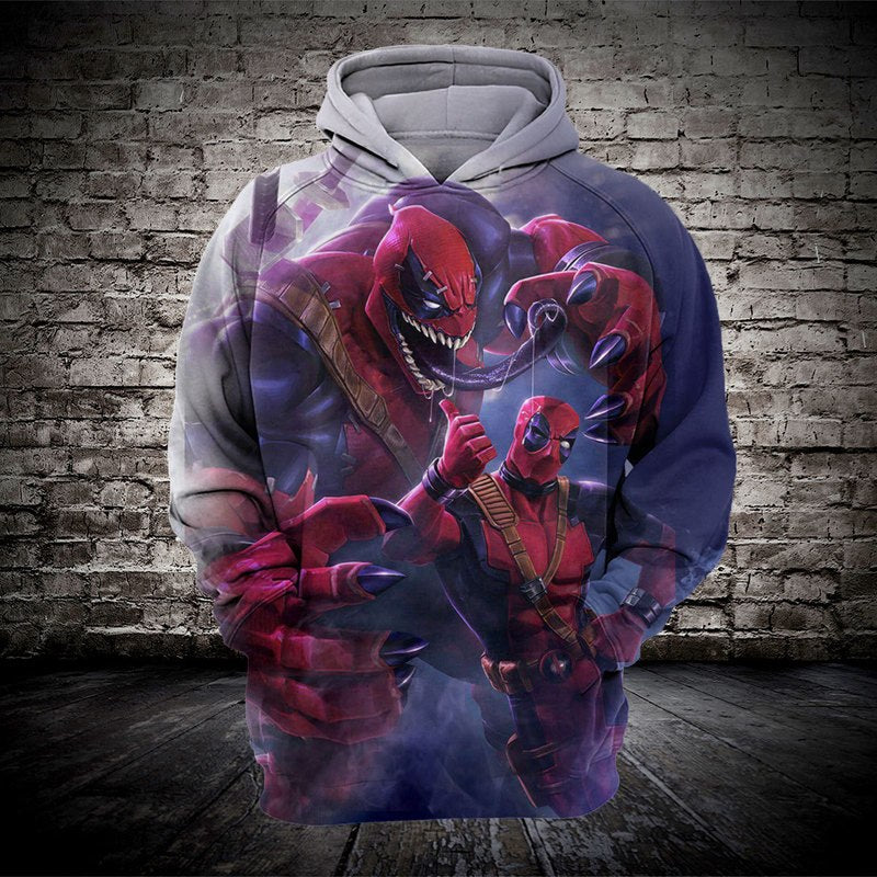 Venom Harajuku Sweatshirt for Marvel Movie Fans