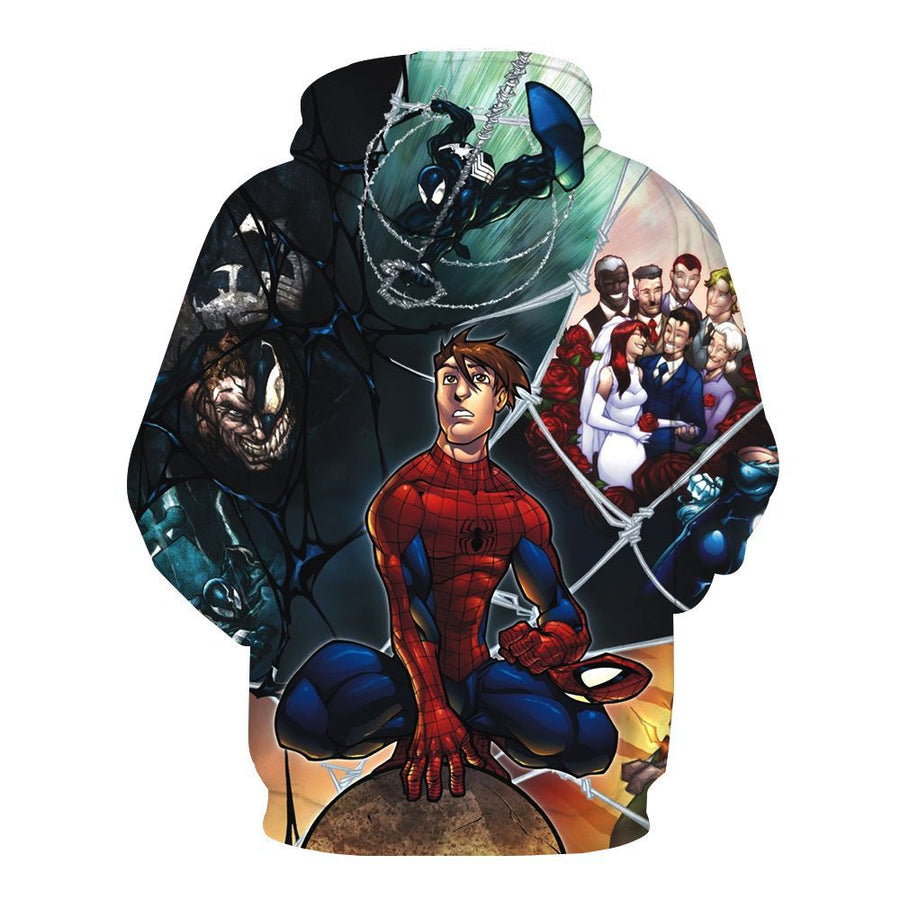 Venom Cosplay Hoodies for Men Marvel Movie Fans