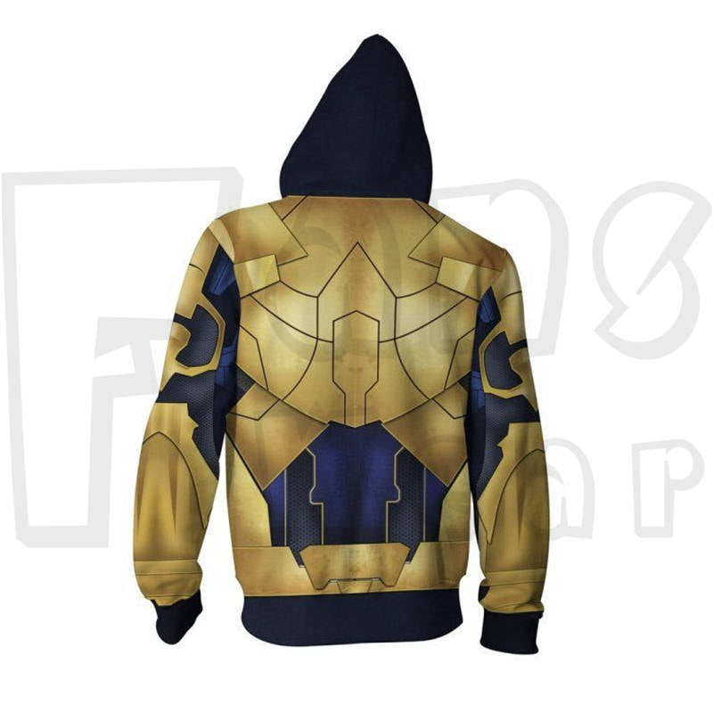 Endgame Hoodies - Thanos Unisex Zip Up Sweatshirt