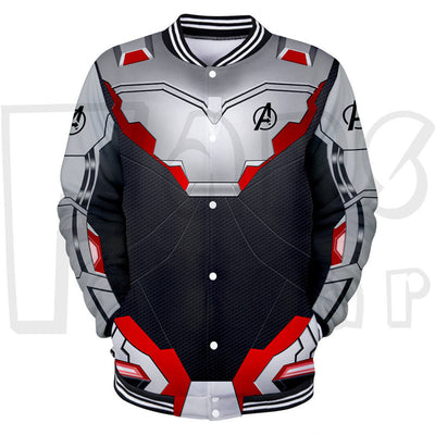 The Avengers 4 Endgame Jacket- Zipper up Quantum Realm Suit
