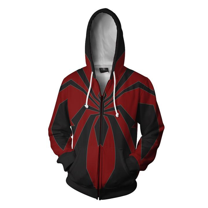 Spiderman Hoodies - Miles Morales Redesign Spider Man Zip Up Hoodie