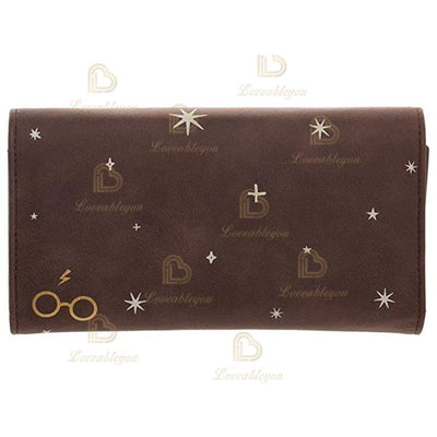 Wizardry Waiting on My Letter From Hogwarts Trunk Flap Wallet Purse