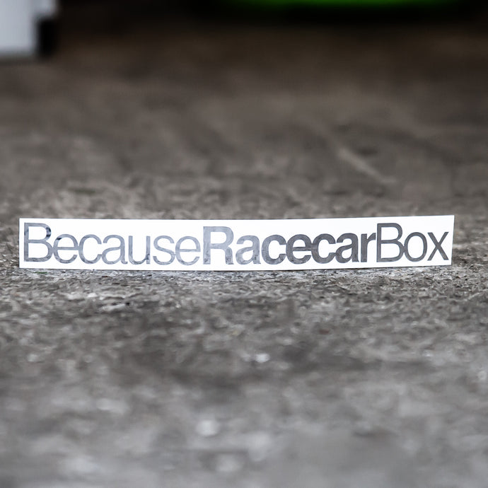 BecauseRacecarBox Sticker
