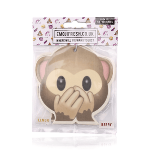 Cheeky Monkey Emoji Car Air Freshener x2