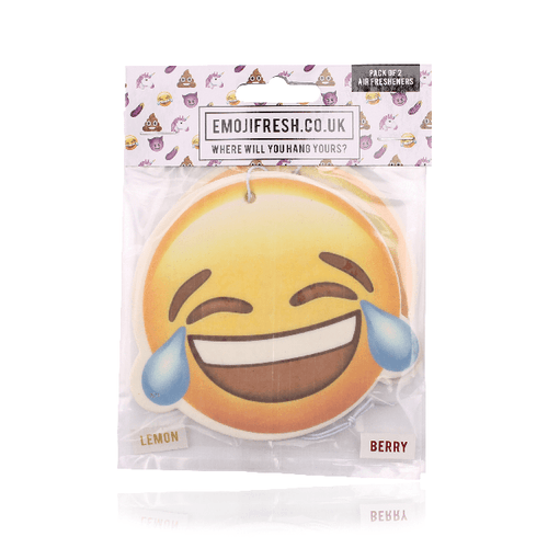 Laughing Face Emoji Car Air Freshener x2