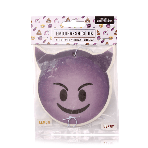 Smiling Devil Emoji Car Air Freshener x2