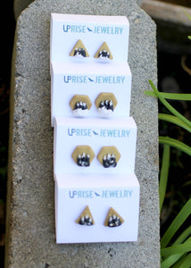 Tiny Mountain Earring Studs - Earrings - [variant_title] - [option1] - [option2] - [option3] - Uprise Jewelry
