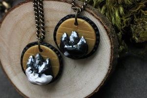 Mountain Medallion Necklace - necklace - [variant_title] - [option1] - [option2] - [option3] - Uprise Jewelry