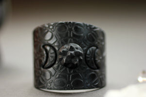Crescent Moon and Pentacle Cuff Bracelet - bracelets - [variant_title] - [option1] - [option2] - [option3] - Uprise Jewelry