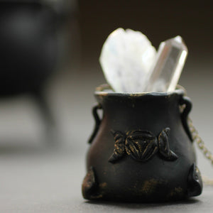 Reversible Witch Cauldron Necklace - necklace - [variant_title] - [option1] - [option2] - [option3] - Uprise Jewelry
