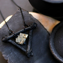 Elemental Iron Pyrite Necklace