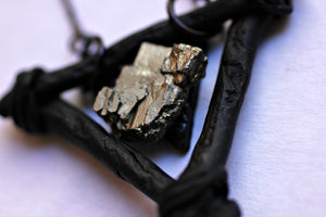 Elemental Iron Pyrite Necklace - necklace - [variant_title] - [option1] - [option2] - [option3] - Uprise Jewelry