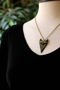 Crescent Triangle Statement Necklace