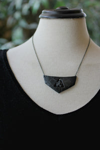 Black Pentacle Breastplate Necklace