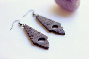 Deep Purple Dangle Earrings - Earrings - [variant_title] - [option1] - [option2] - [option3] - Uprise Jewelry