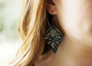 Dark Boho Polymer Clay Earrings