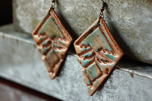 Tribal Boho Patina Copper Earrings - Unparalleledcc