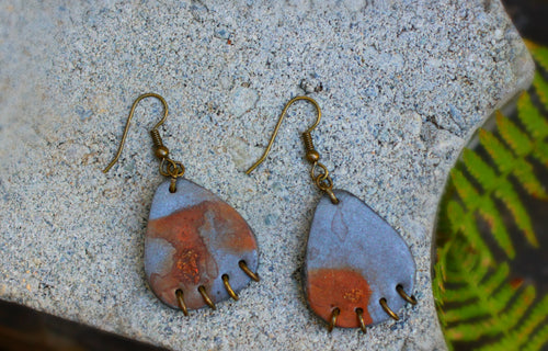 Industrial Rusted Steel Earrings - Unparalleledcc